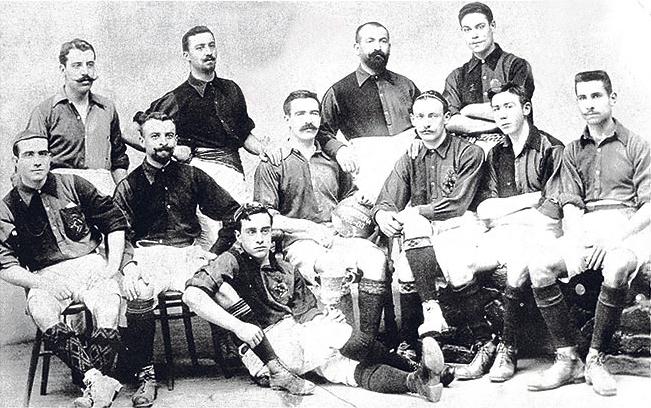 Spelers van FC Barcelona in 1903